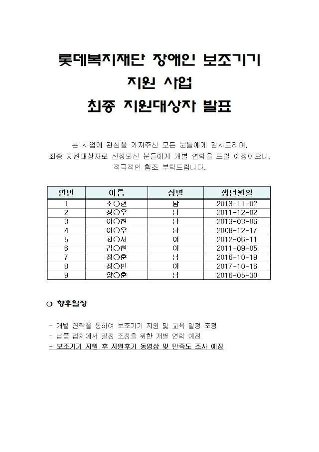 롯데복지재단 장애인 보조기기 지원 사업 최종지원 대상자 발표001.jpg